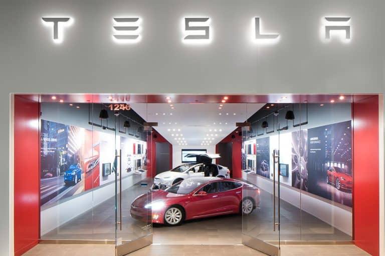 tesla vehicle showroom