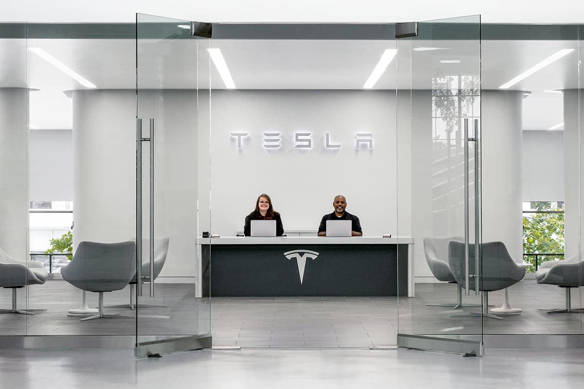 tesla service lobby