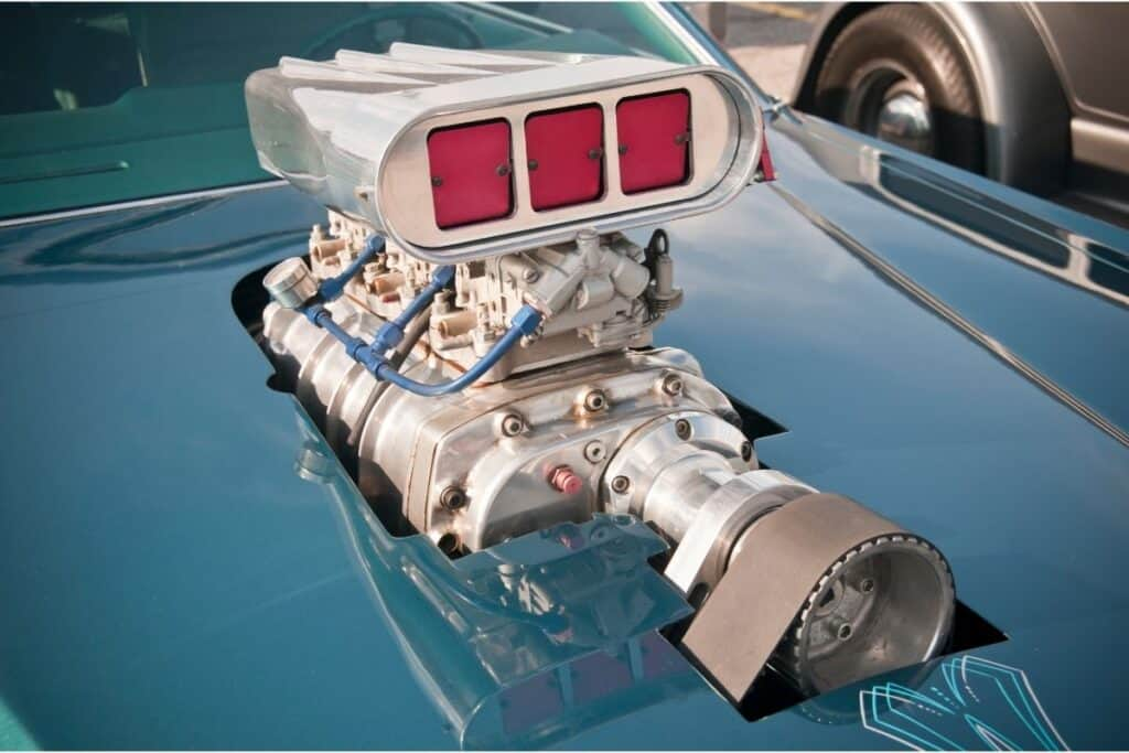 supercharger on muscle car